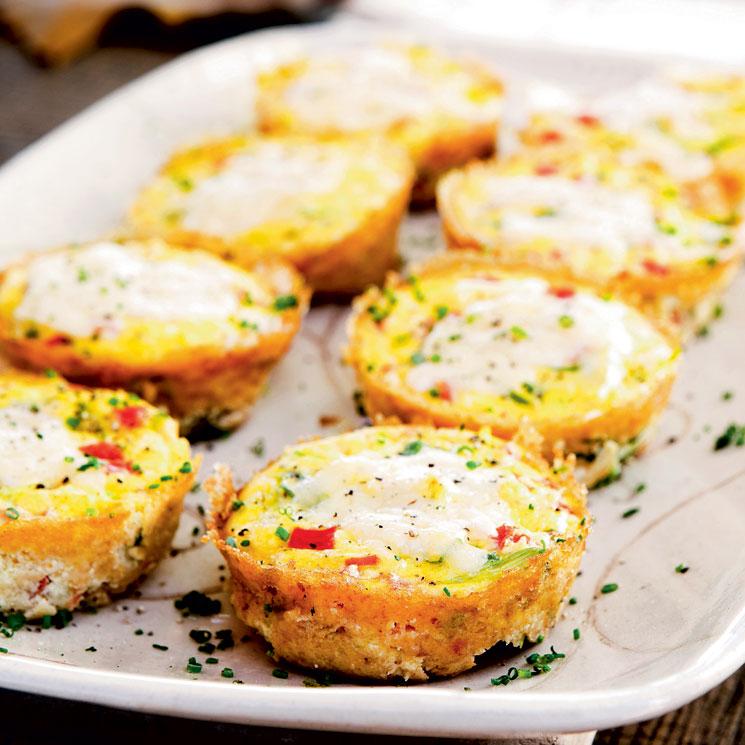'Muffins' de huevo y tomate