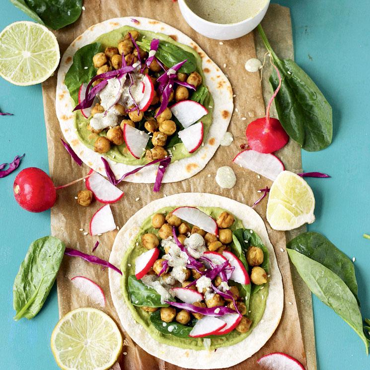 Tacos vegetarianos de garbanzos