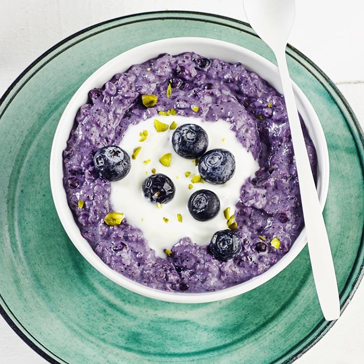 'Porridge' de arándanos