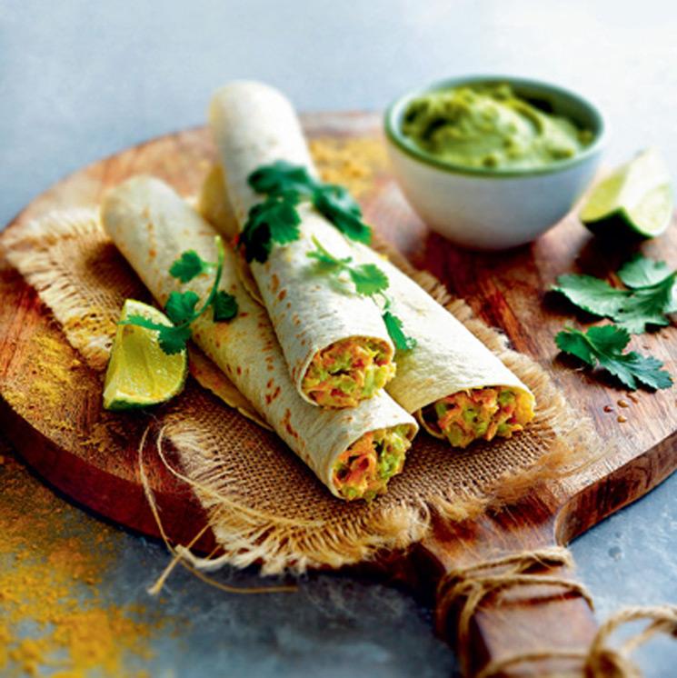 Tacos de aguacate y zanahoria
