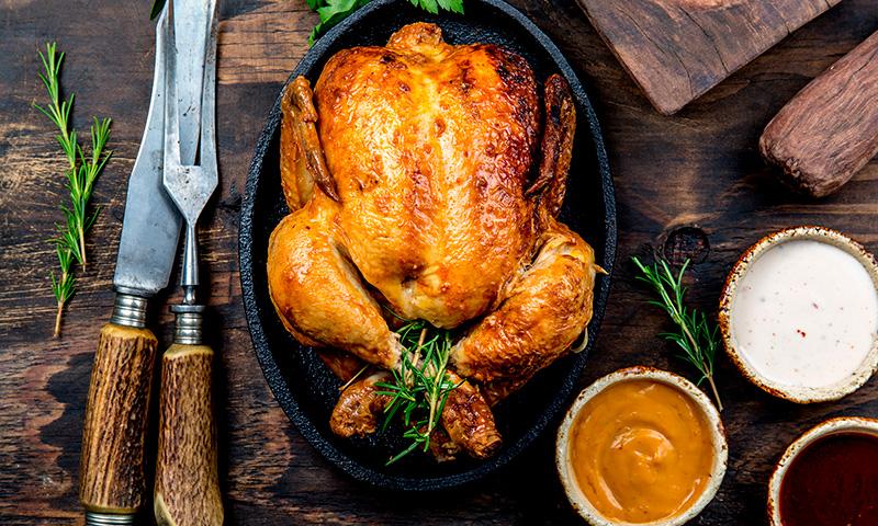pollo asado horno tomillo t