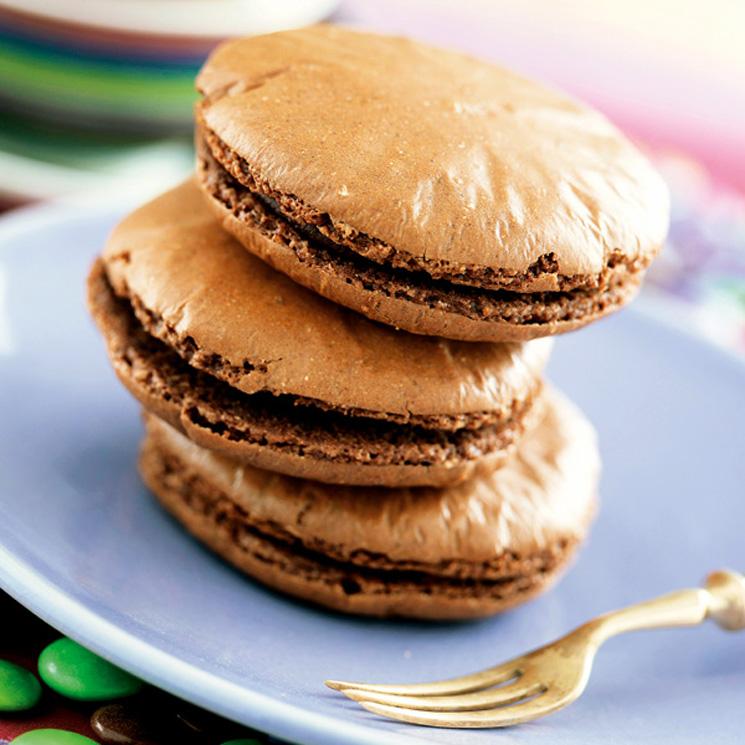 'Macarons' de chocolate