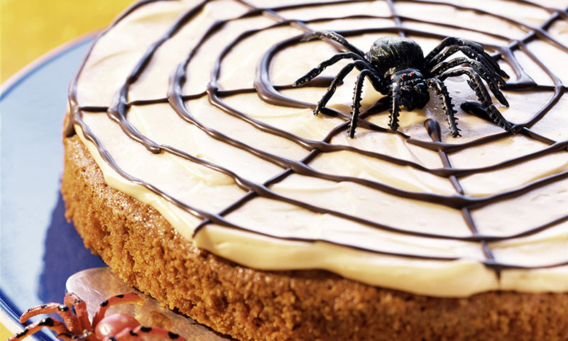 Tarta tela de araña de Halloween