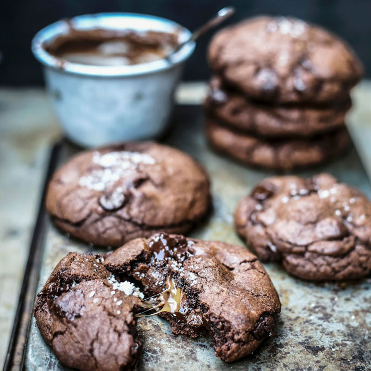 Cookies de chocolate rellenas de 'nougat'