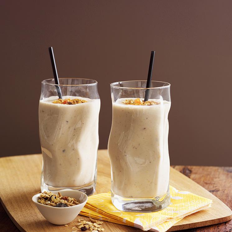 batido de platano y leche receta