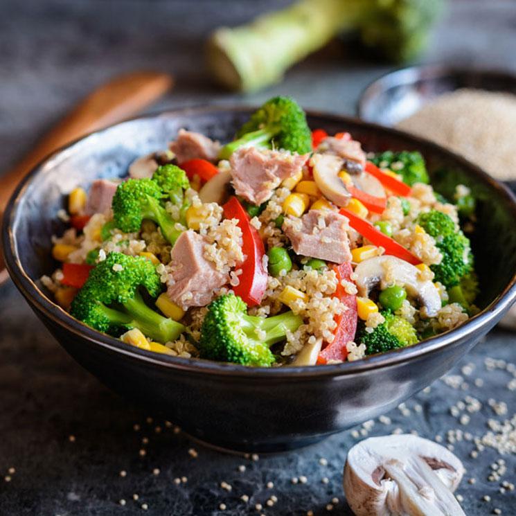 Ensalada De Quinoa Brócoli Y Atún