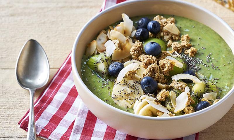 'Green Bowl Smoothie' con granola