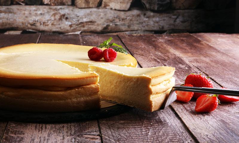 Tarta al horno con queso crema