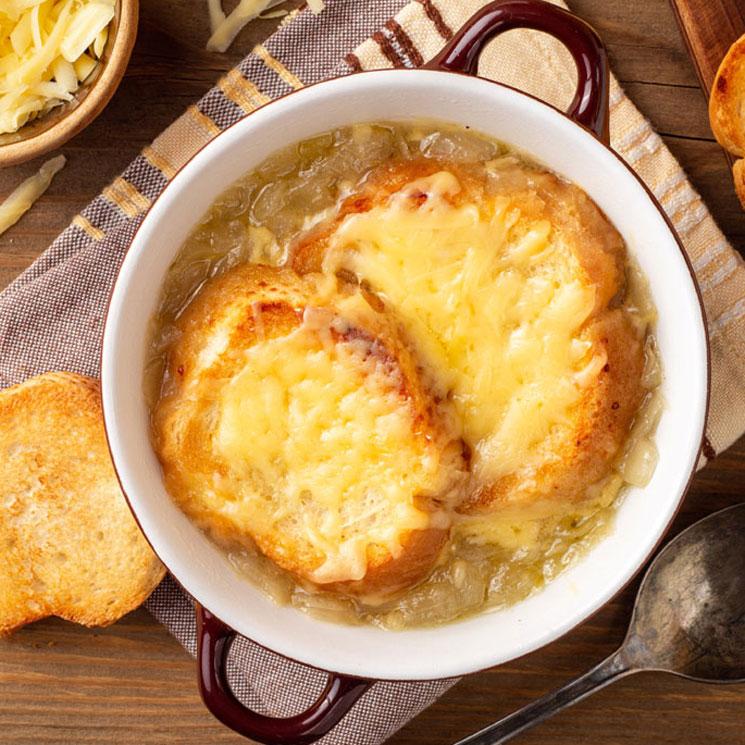 sopa de cebolla con queso gratinado receta