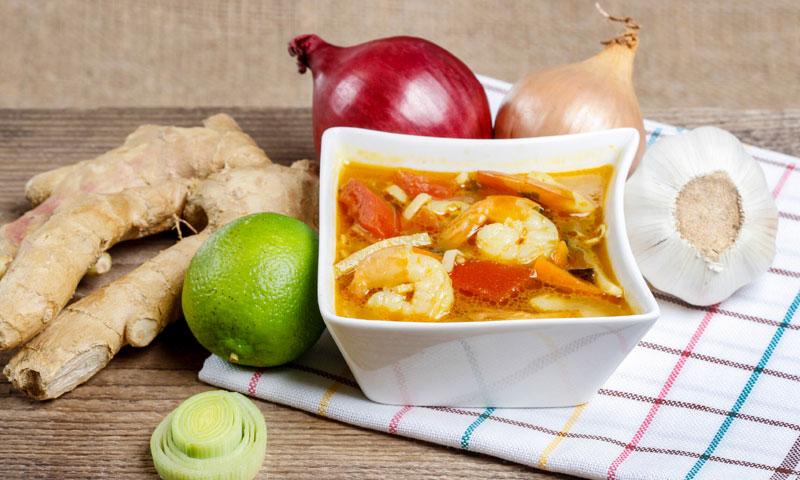 Sopa tailandesa 'Tom Yam Kung'
