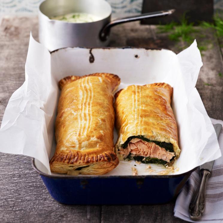 Empanadilla de salmón y espinacas