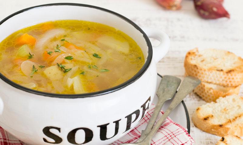 Sopa de zanahoria y calabacín