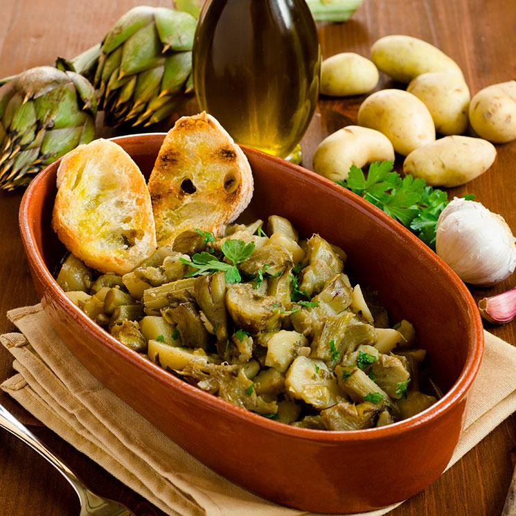 Guiso de alcachofas con patatas