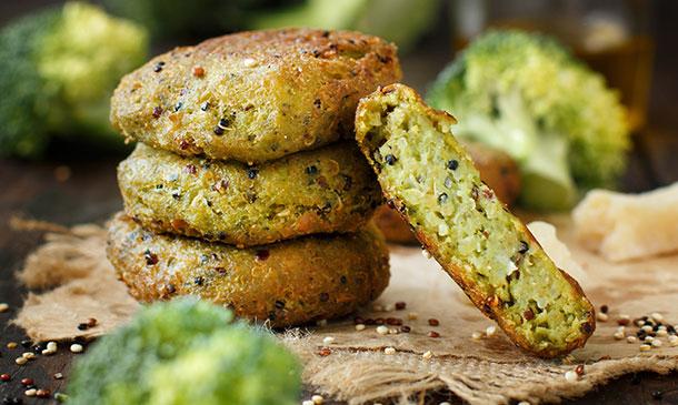 Croquetas veganas de quinoa y brócoli