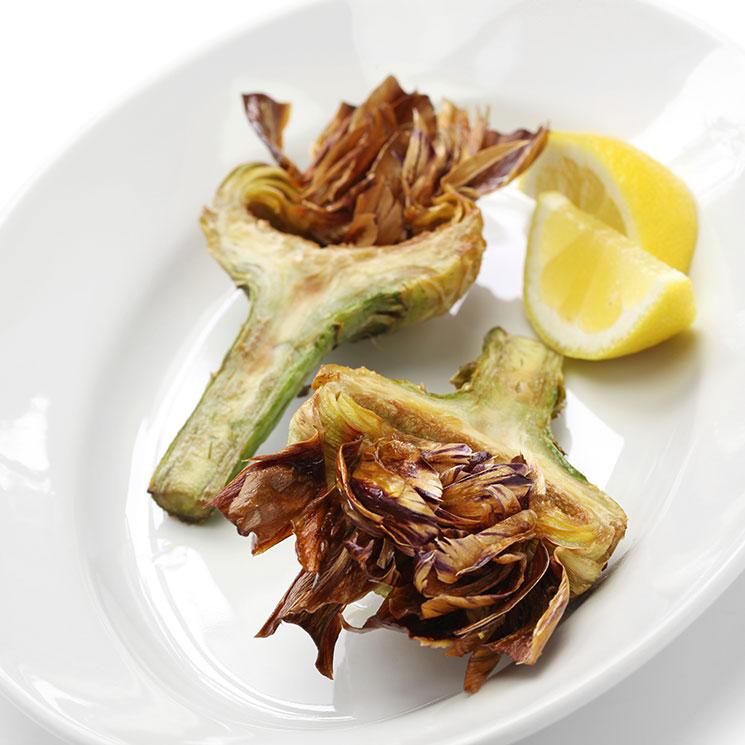 Alcachofas fritas bien crujientes