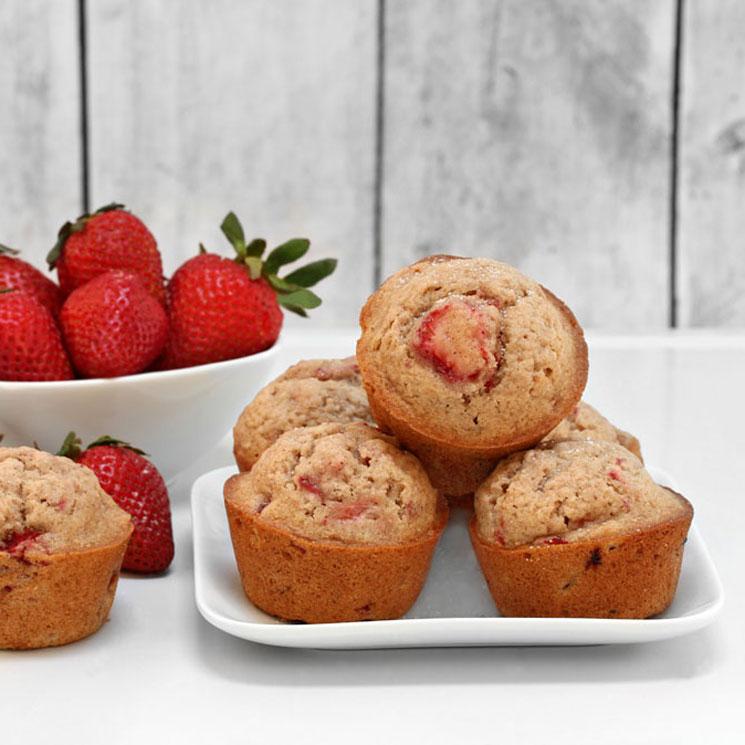 'Muffins' de avena y fresa