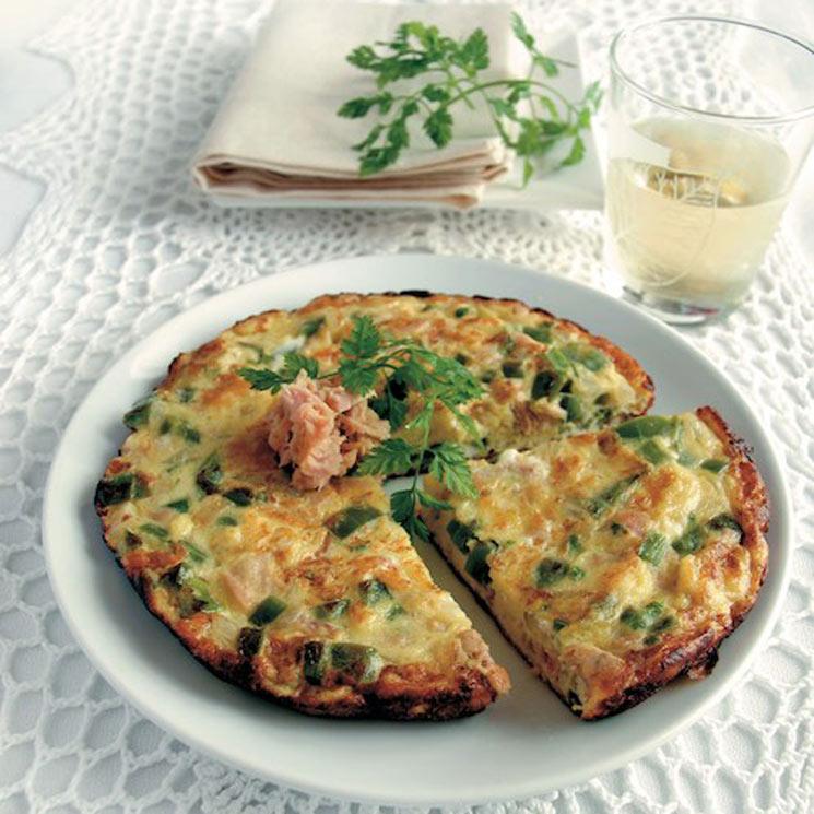 Tortilla de bonito con pimiento verde