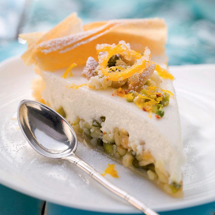 Tarta 'baklava' de pistachos