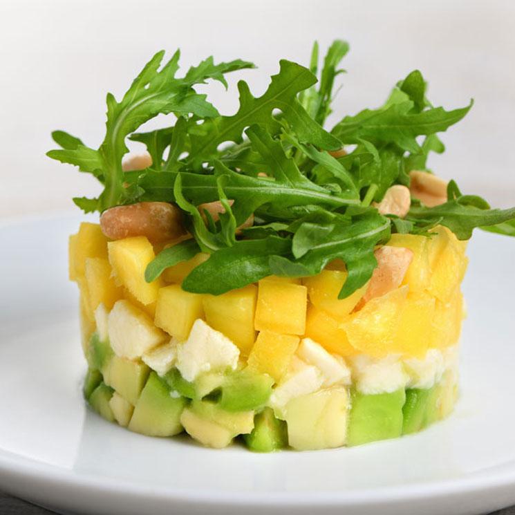 Tartar de aguacate y mango con 'mozzarella'