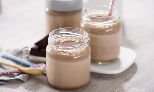 Yogur natural de chocolate