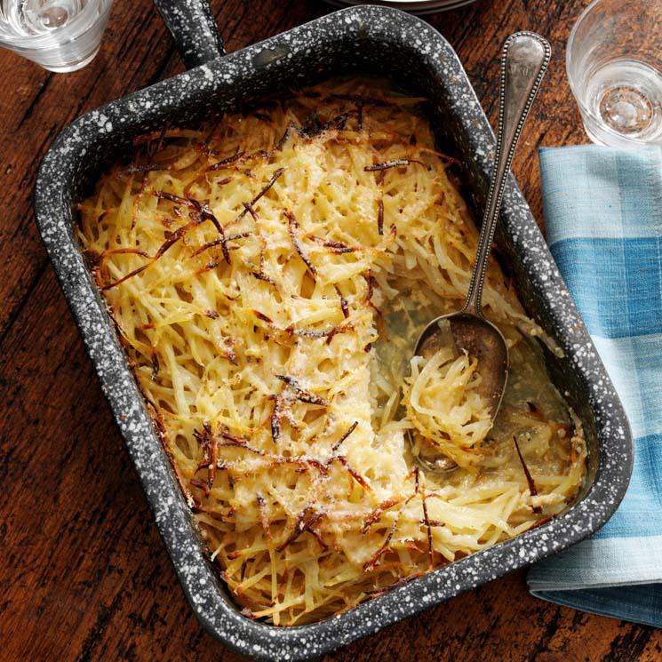 Patatas gratinadas con queso