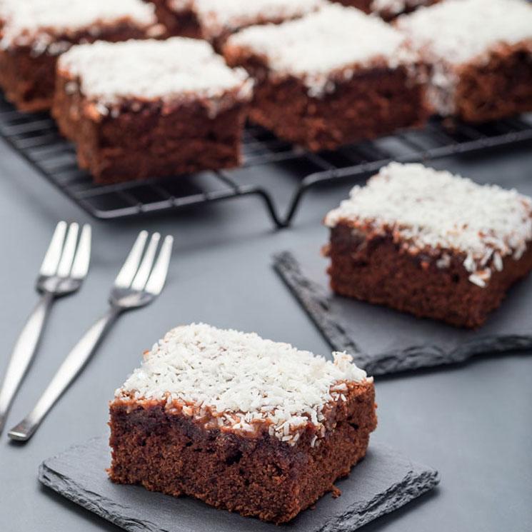 Brownie De Chocolate Almendra Y Coco Sin Harina