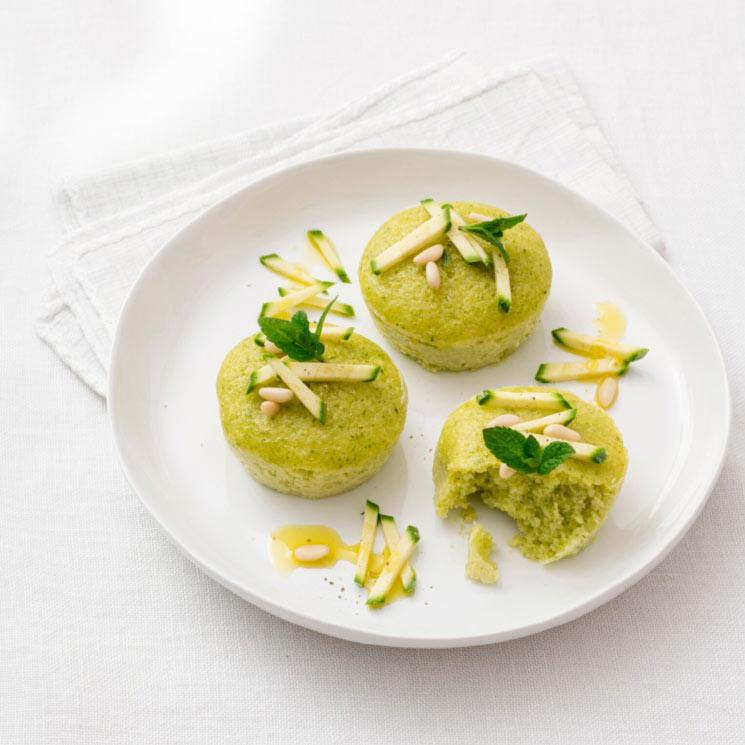 'Muffins' de calabacín al microondas