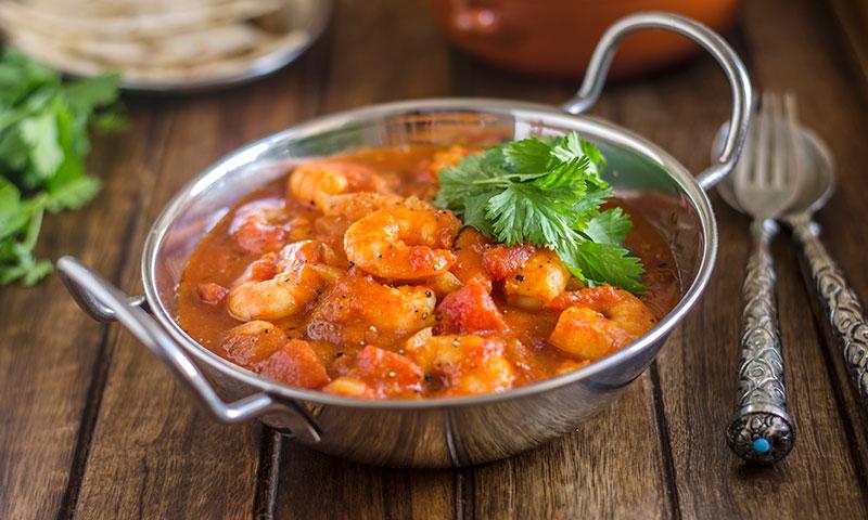 Curry suave de gambas