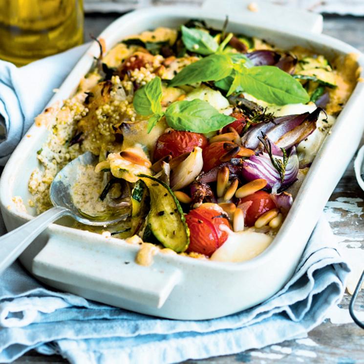 Pastel de verduras y quinoa