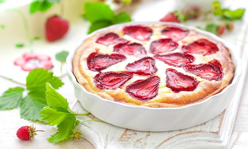 Cheesecake ligero con fresas