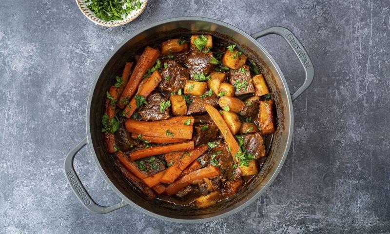 Estofado de ternera con zanahorias