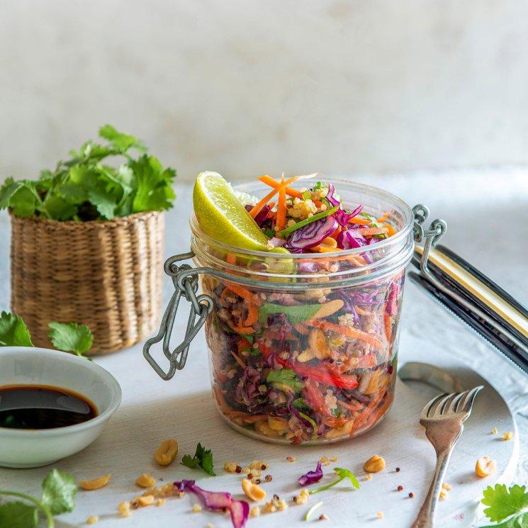 Ensalada de quinoa 'crunchy'