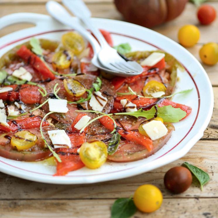 'Carpaccio' de tomate y queso feta