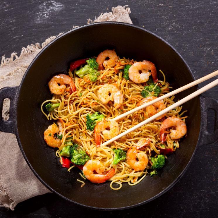 Noodles Dan Dan Con Gambas Y Bimi