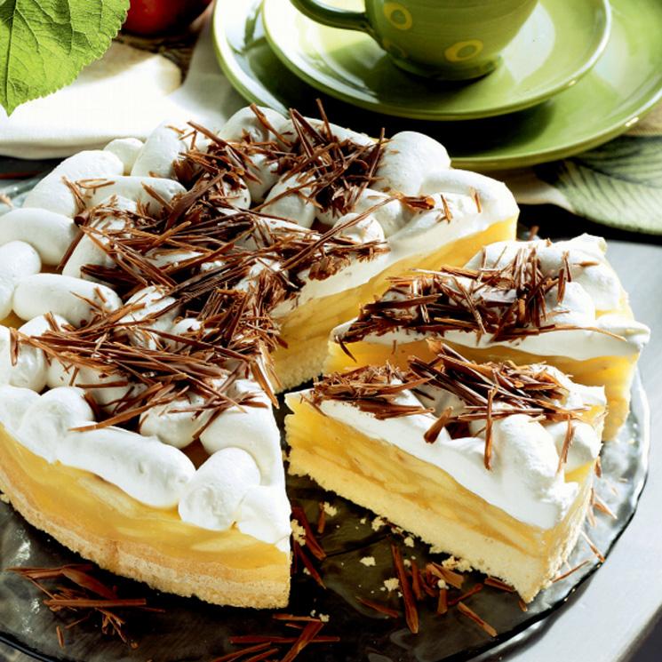 Tarta de manzana y merengue