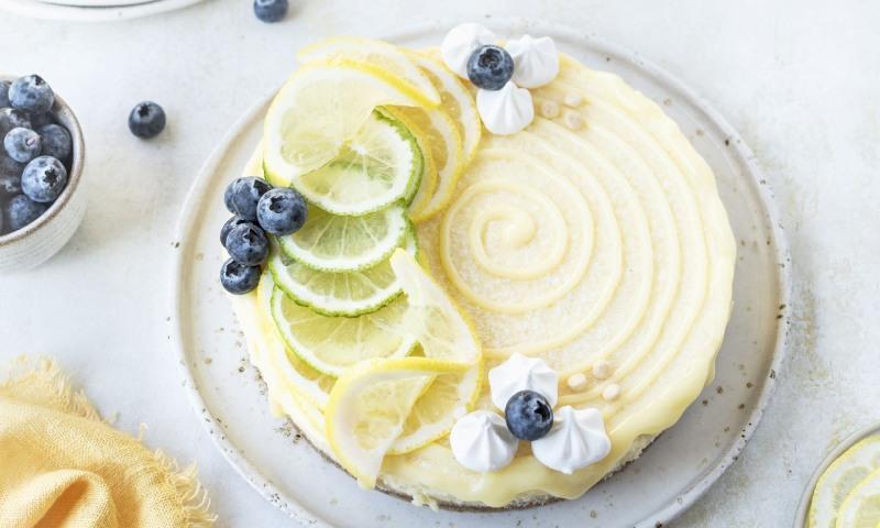 Tarta de lima y limón