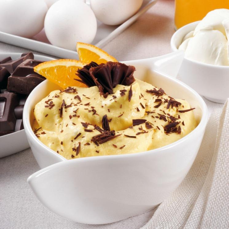 'Mousse' de naranja con chocolate negro
