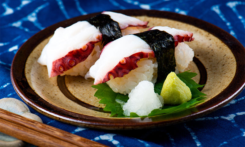 'Sushi' de pulpo