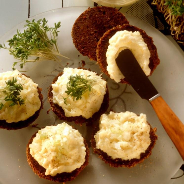'Mousse' de patata con queso de cabra