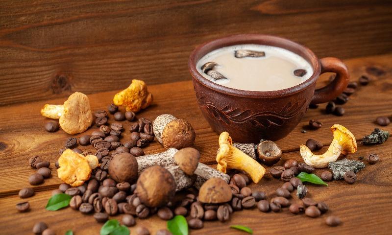 Café de champiñones