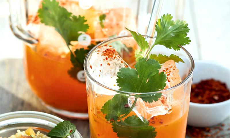 Zumo de zanahoria y piña