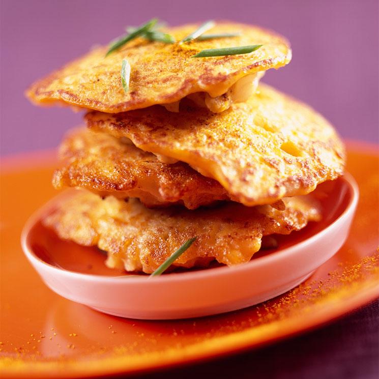 Tortitas de coliflor al curry