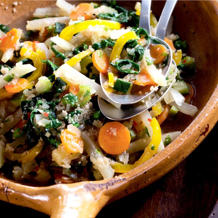 Cazuela de verduras y quinoa
