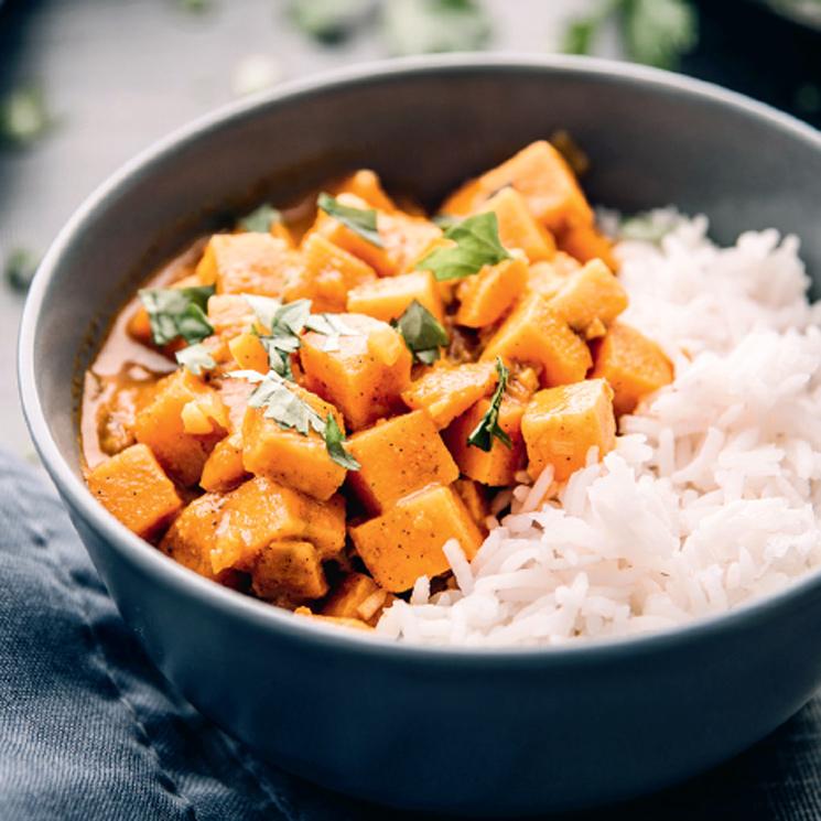 Curry de zanahoria con arroz