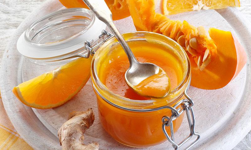 'Chutney' de calabaza, naranja y jengibre