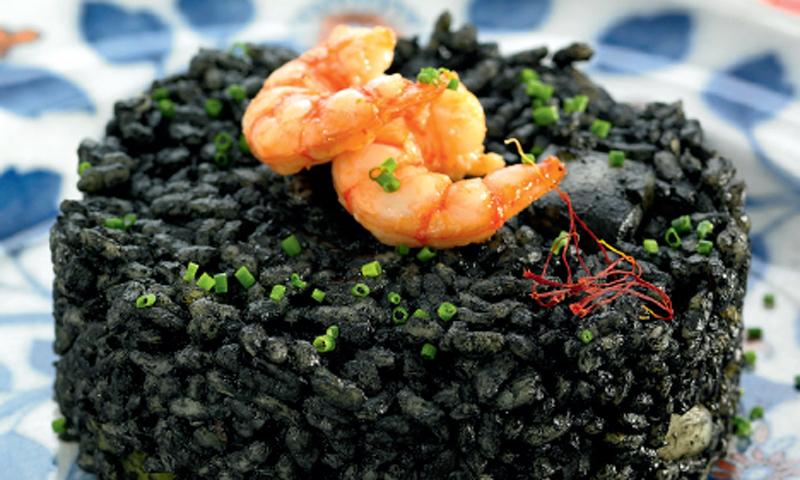 Timbal de arroz negro