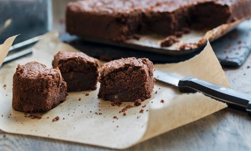 'Brownie' de chocolate y harina de malta