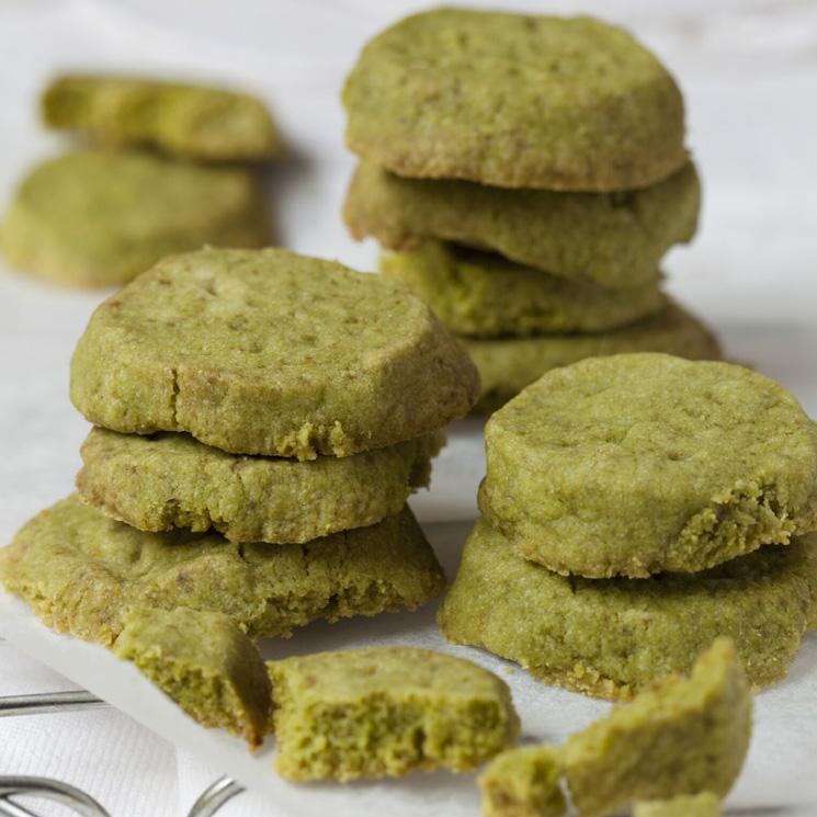 Galletas 'shortbread' de té 'matcha'