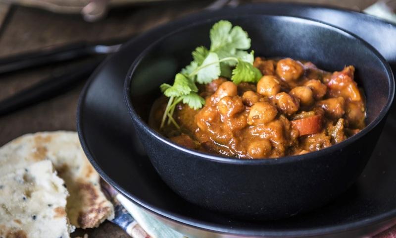 Garbanzos guisados con curry