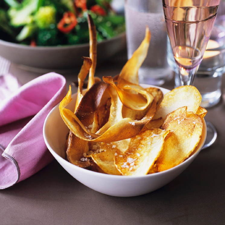 'Chips' de patata y de chirivía